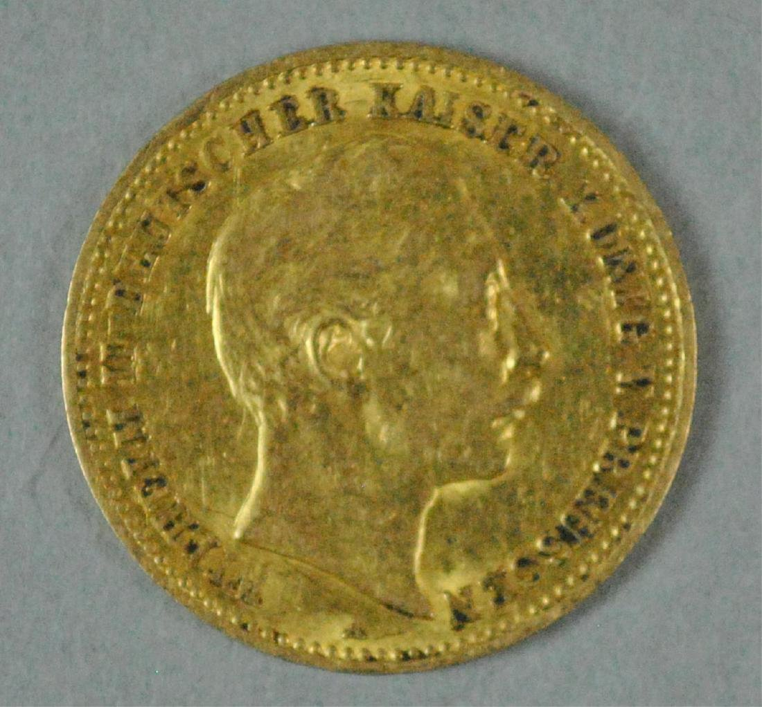 1893 GERMAN STATES PRUSSIA 10 MARK GOLD COIN