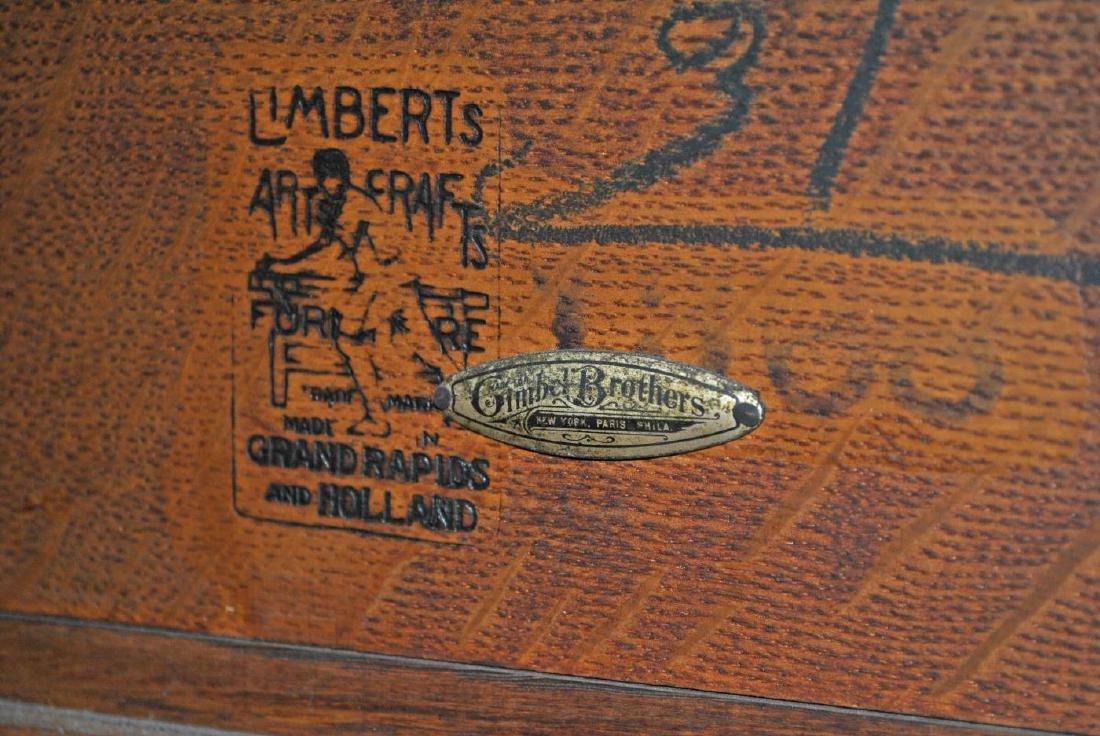 (9) PIECE LIMBERT ARTS & CRAFTS OAK DINING SUITE - 7