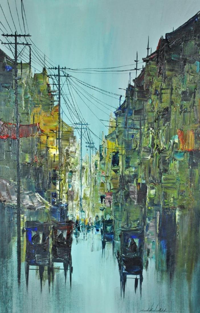 MANILA STREETSCAPE BY MABINI ARTIST ENRICO ZABLAN