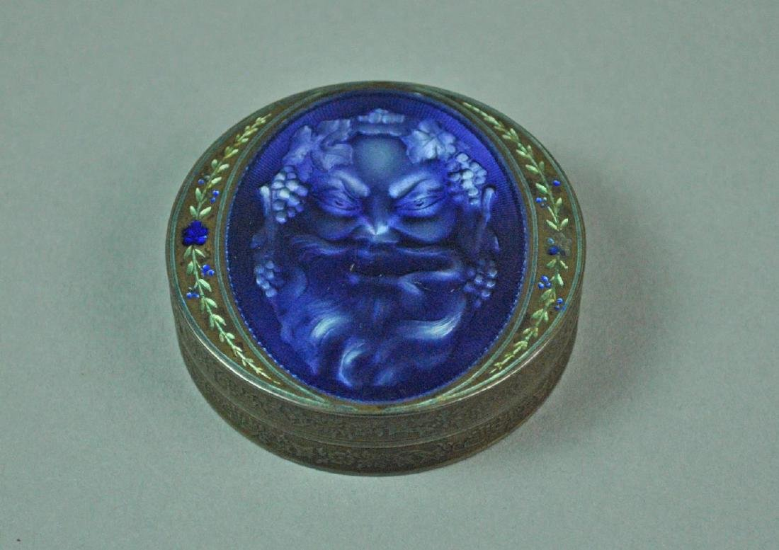FRENCH ENAMELED SILVER SNUFF BOX - 2
