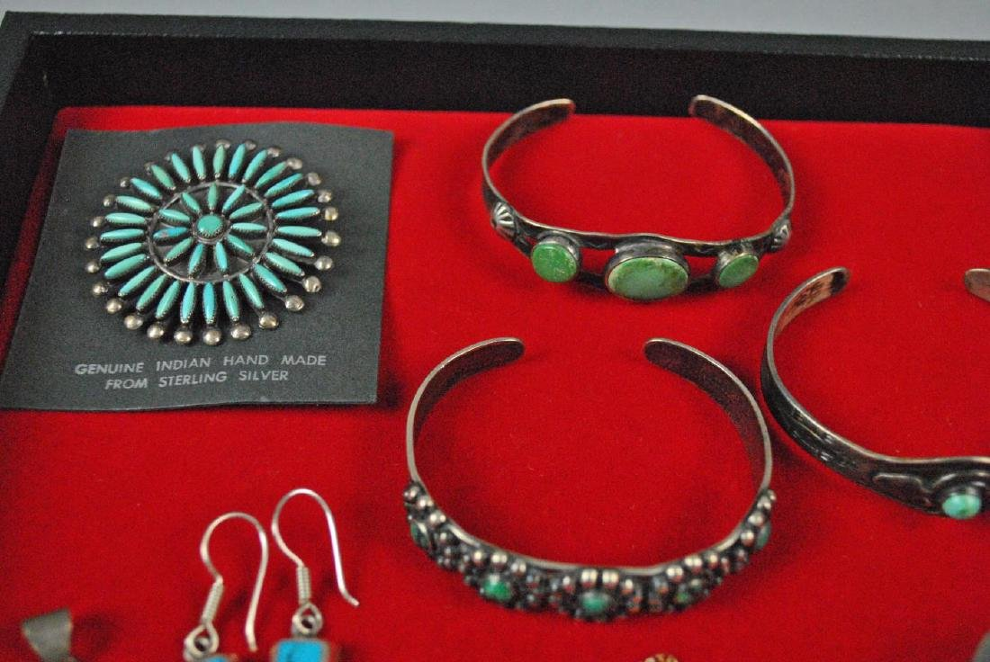 (8) PIECE SOUTHWESTERN TURQUOISE JEWELRY GROUP - 2