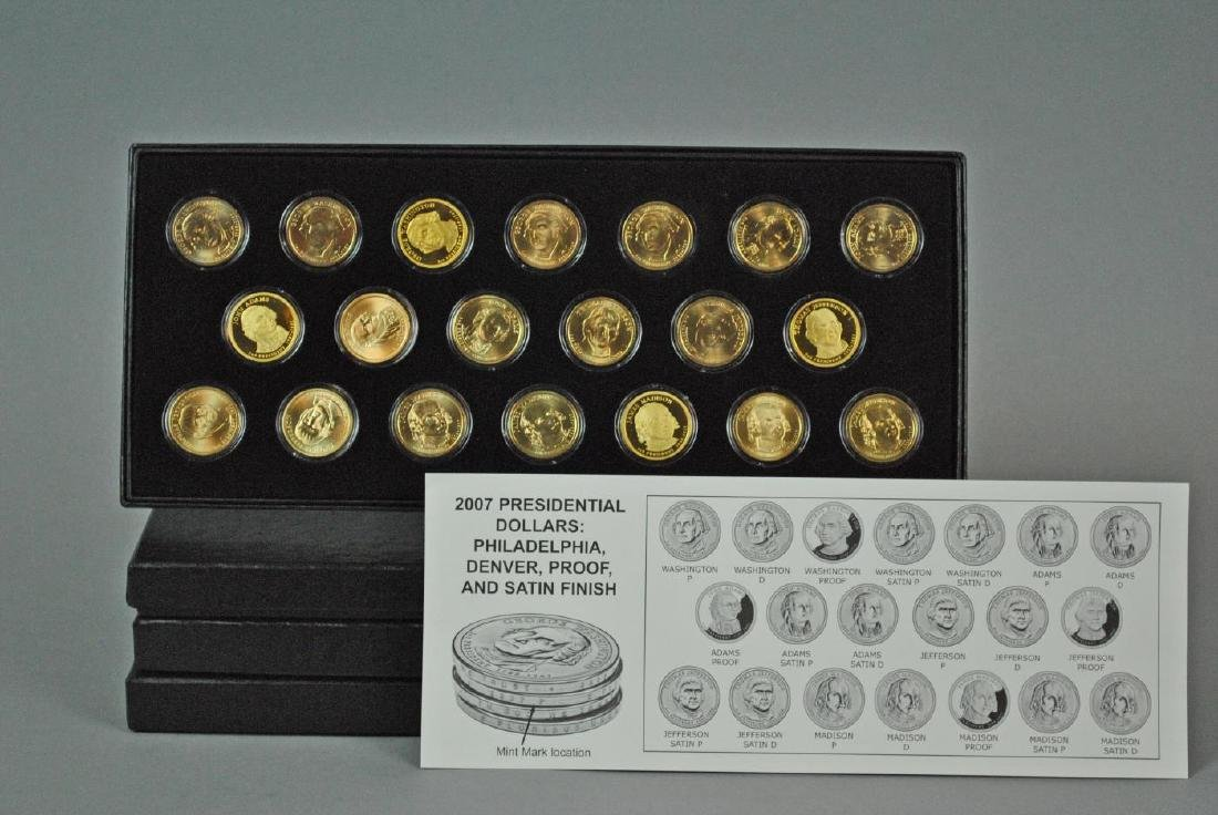 (4) BOXED SETS OF PRESIDENTIAL DOLLARS