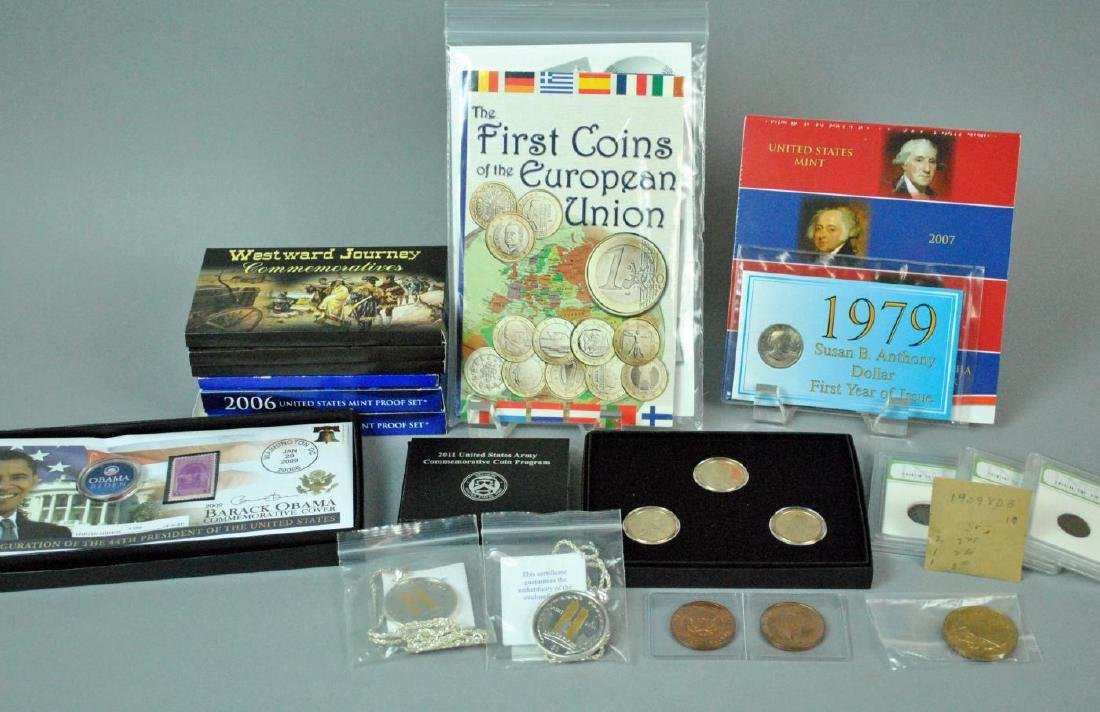 (24) PIECE COIN & MEDALS COLLECTIBLE GROUP MOST US