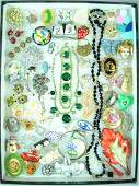 (60+) COSTUME JEWERLY GROUP, MOSTLY PINS