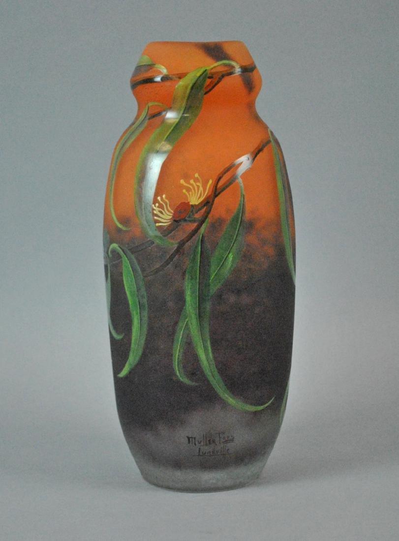 MULLER FRES LUNEVILLE ART GLASS VASE - 2