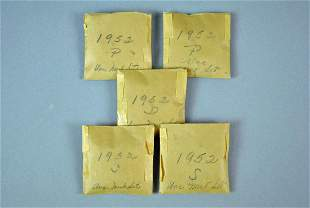 5 1952 UNCIRCULATED US COIN SETS