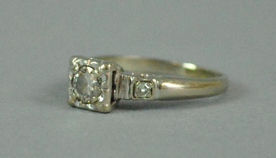 14K DIAMOND ENGAGEMENT RING - 2