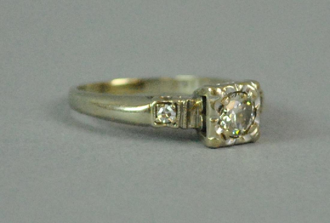 14K DIAMOND ENGAGEMENT RING - 3