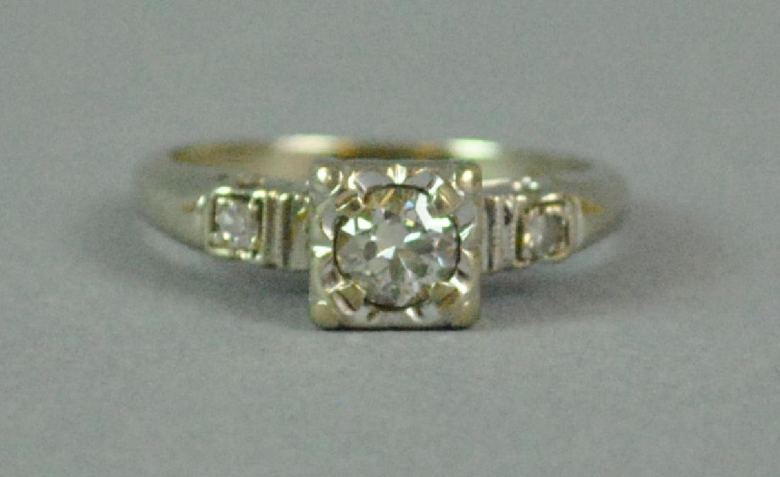14K DIAMOND ENGAGEMENT RING - 4