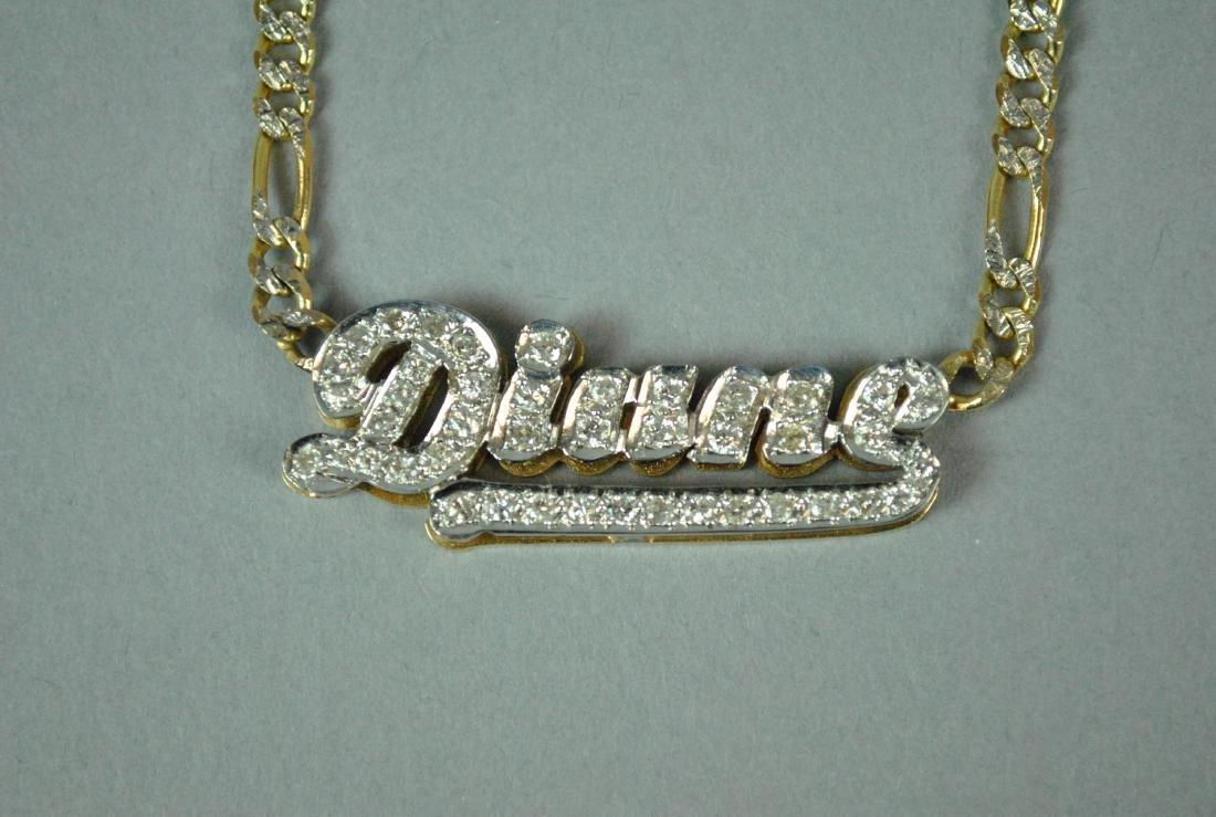 14K DIAMOND 'DIANE' SIGNET CHOKER