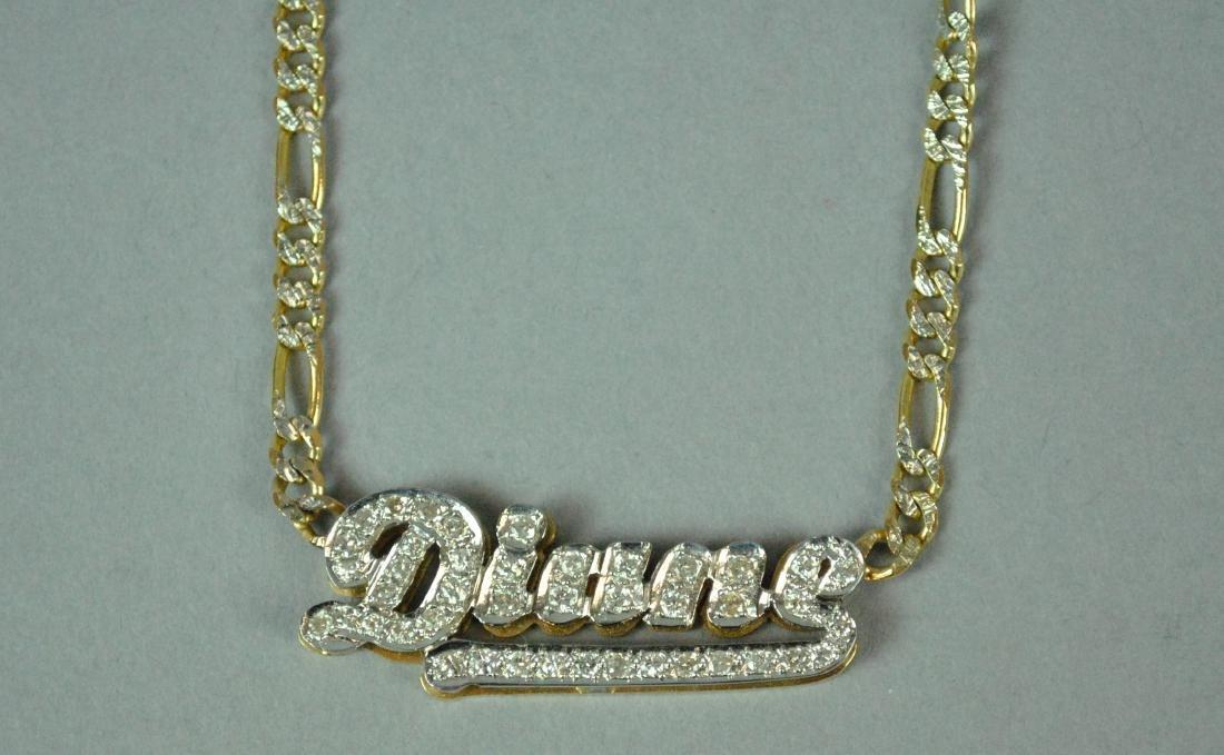 14K DIAMOND 'DIANE' SIGNET CHOKER - 2