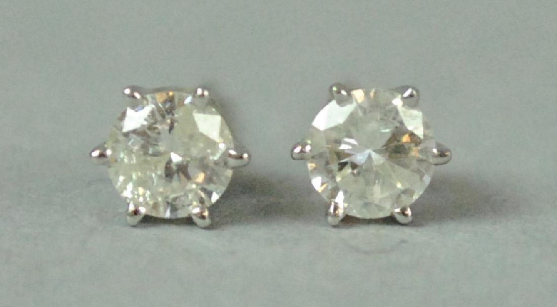 PAIR 14K DIAMOND STUD EARRINGS, 0.50CTW