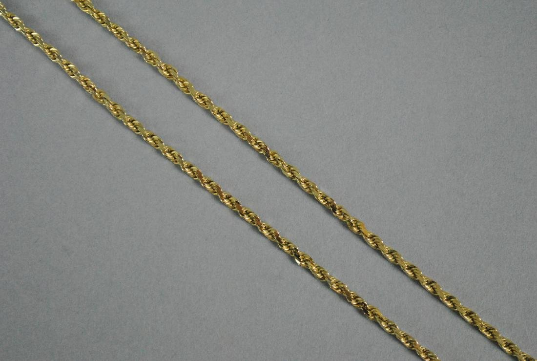 14K FRENCH ROPE NECKCHAIN - 2