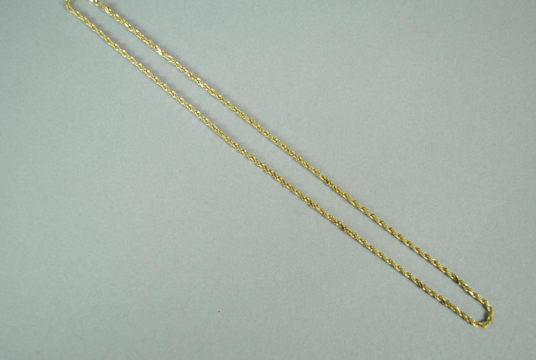 14K FRENCH ROPE NECKCHAIN - 3