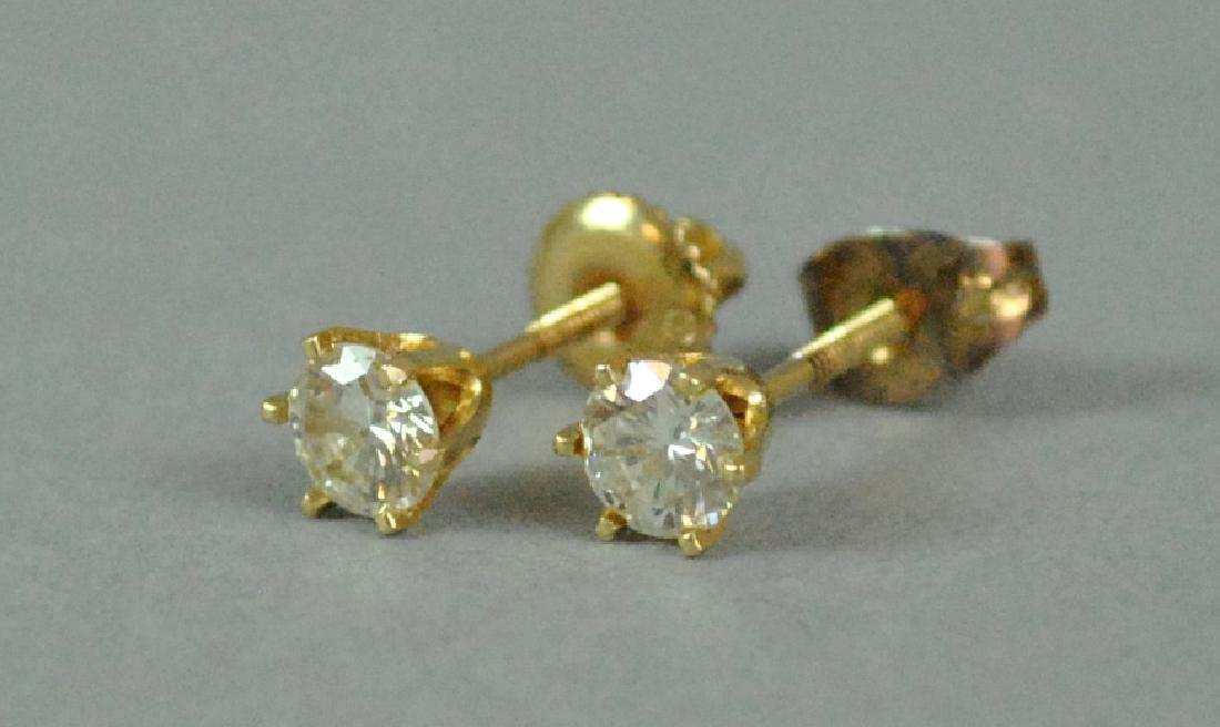 PAIR 14K DIAMOND STUD EARRINGS, 0.60CTW