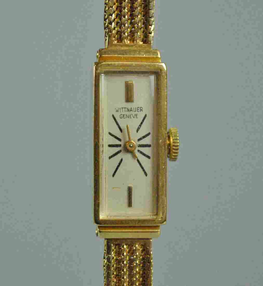 LADIES 14K WITTNAUER GENEVE BRACELET WATCH