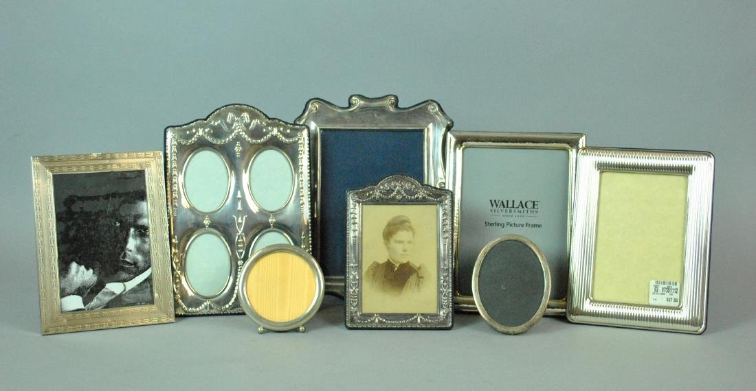 (8) STERLING SILVER EASEL BACK PICTURE FRAMES
