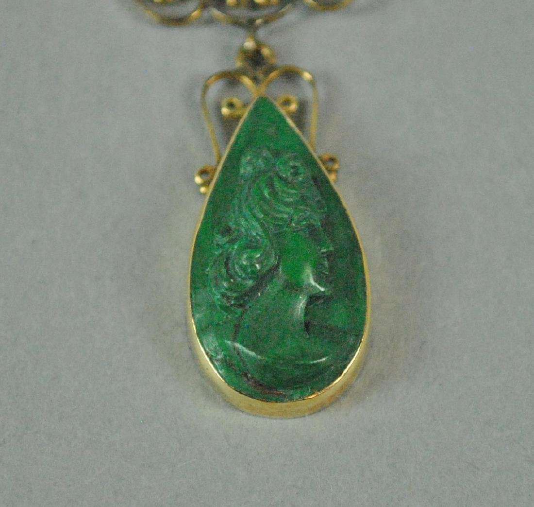 (2) PIECE GOLD JEWELRY GROUP - 5