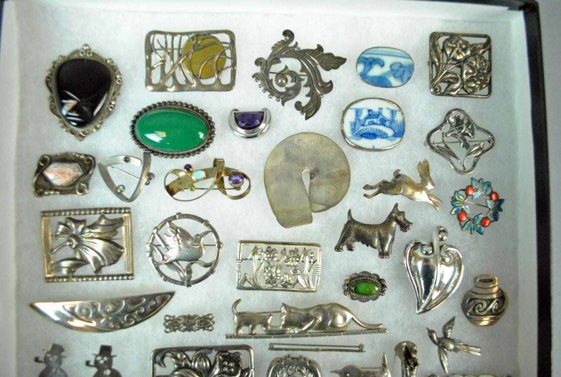 (50+) STERLING SILVER PINS - 2