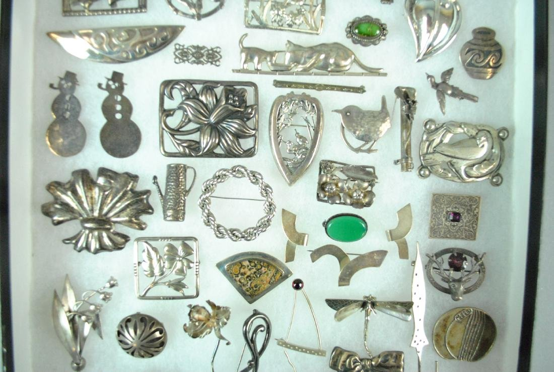 (50+) STERLING SILVER PINS - 3
