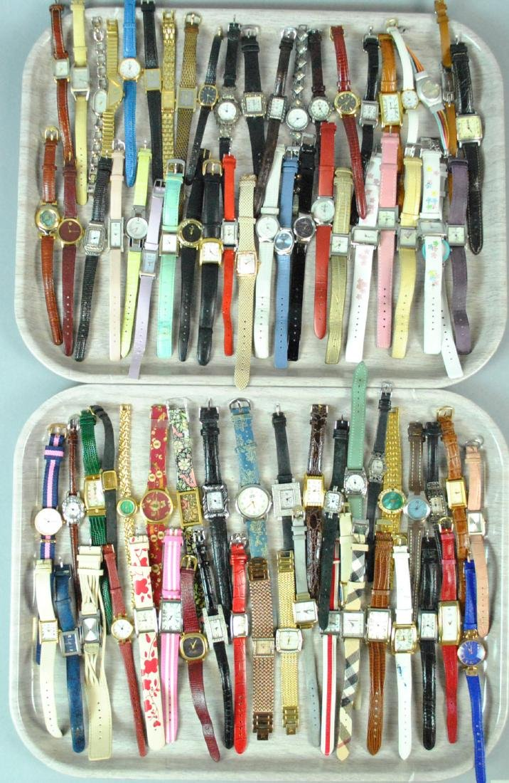 (100+) ASSORTED LADIES FASHION WATCHES