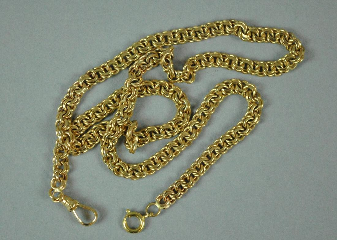 14K DOUBLE LINK WATCH CHAIN
