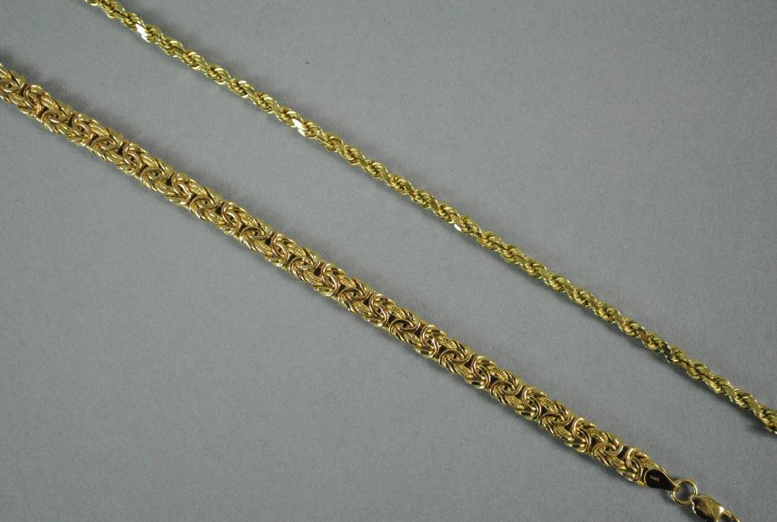 (2) 14K GOLD LINK BRACELETS - 2