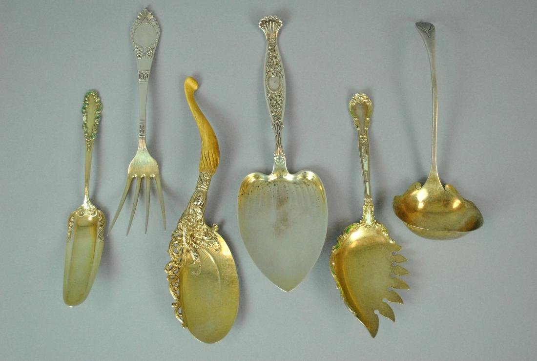 (8) STERLING SERVING PIECES - 2