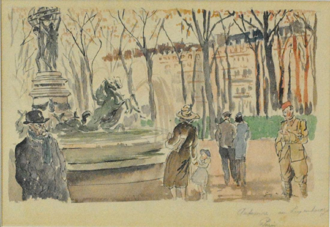 GUY DE NEYRAC (French, 1900-1950), (2) PAINTINGS