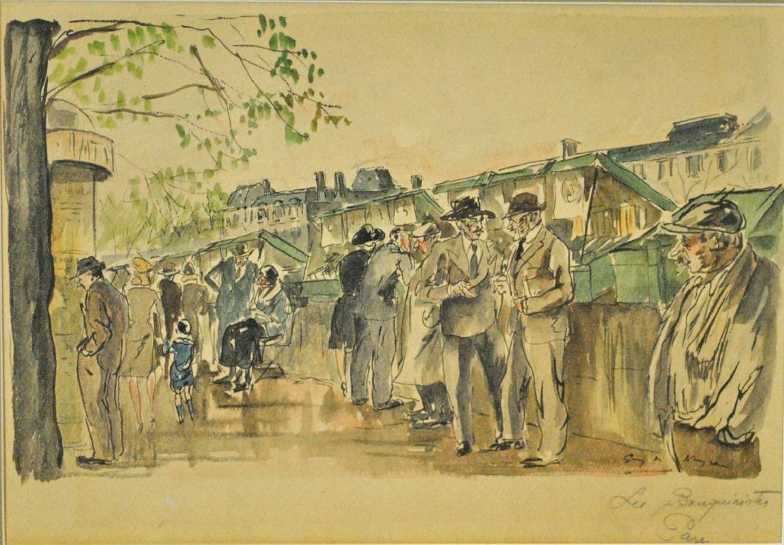 GUY DE NEYRAC (French, 1900-1950), (2) PAINTINGS - 2