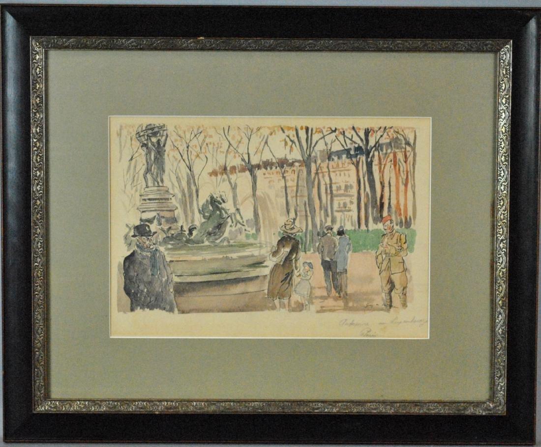 GUY DE NEYRAC (French, 1900-1950), (2) PAINTINGS - 3