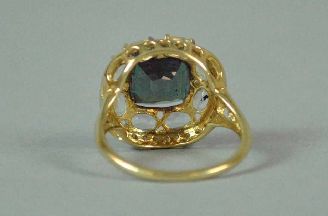 14K COLOR-CHANGE SPINEL & DIAMOND RING - 4