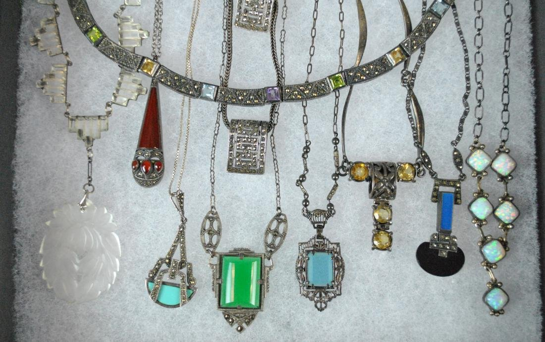 (10) SILVER NECKLACES & PENDANTS ON CHAIN - 2