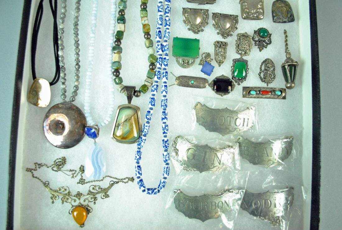 (27) PIECE SILVER JEWELRY & OBJECTS GROUP - 3