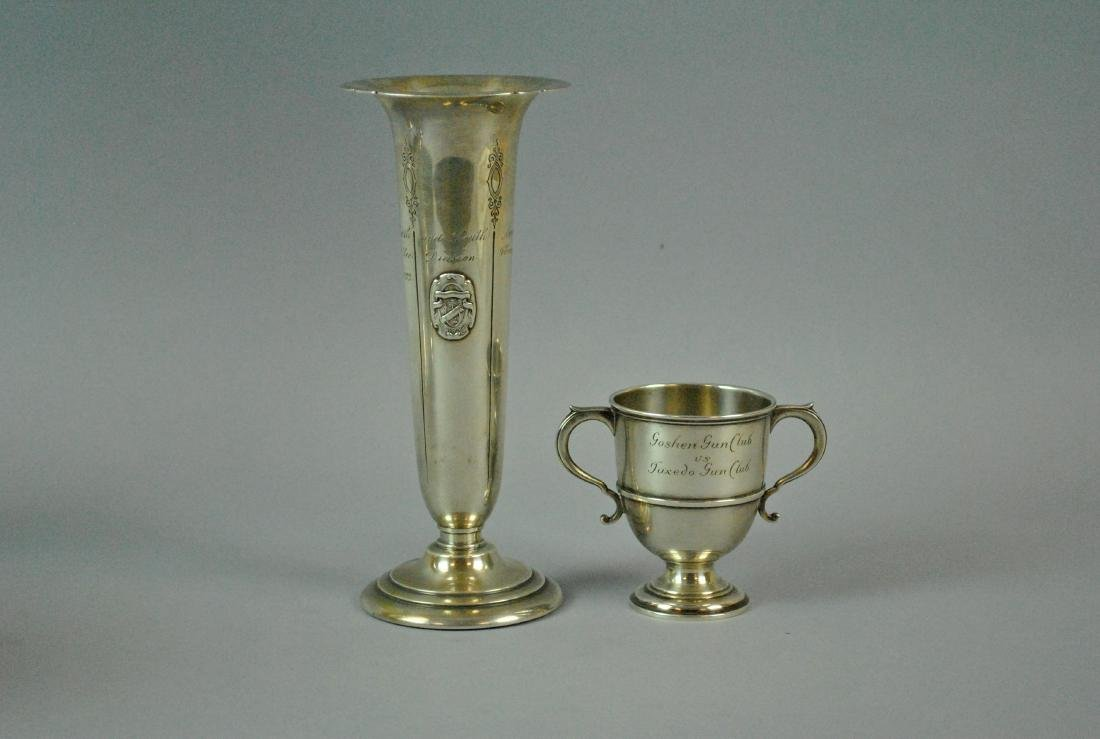 (2) STERLING TROPHYS - SHOOTING & GOLF
