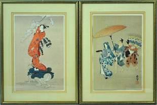 2 CONTEMPORARY JAPANESE WOODBLOCK PRINTS