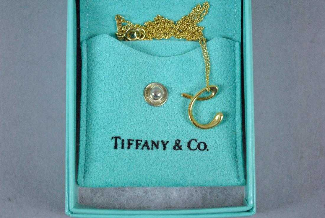 e8feb0e8b 18K ELSA PERETTI FOR TIFFANY - 'C' PENDANT & CHAIN