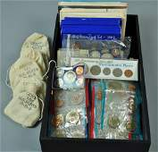 US PROOF & UNCIRCULATED MINT SETS - SOME SILVER