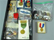 (45+) ASSORTED MOSTLY MILITARY & SHOOTING MEDALS
