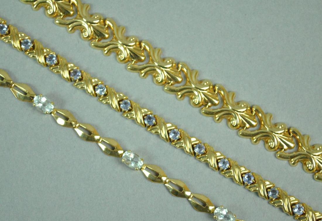 (3) 14K GOLD BRACELETS