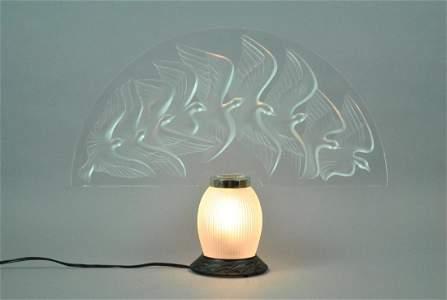 LALIQUE 'HOKKAIDO' ART GLASS VEILLEUSE LAMP