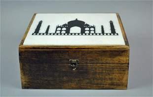 INDIAN TAJ MAHAL PAINTED BOX