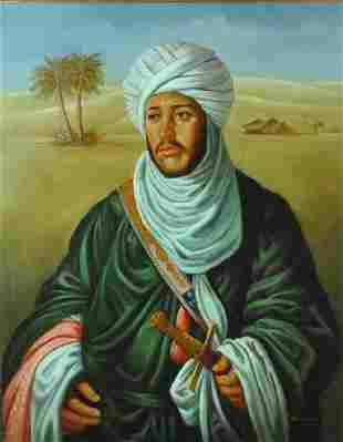 MIDDLE EASTERN PORTRAIT OF A GENT WITH SWORD