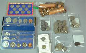 VARIED GROUP US SILVER & NON SILVER COINS