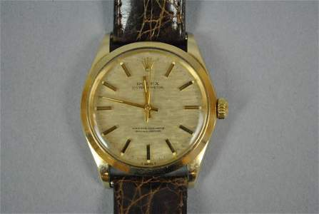 GENT'S ROLEX OYSTER PERPETUAL 14K GOLD CASE WATCH