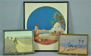 3 ARTWORKS OF MIDDLE EASTERN SCENES