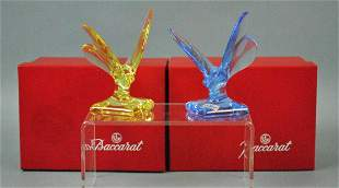 2 BACCARAT BUTTERFLY PAPERWEIGHTS