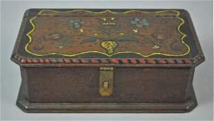 ANTIQUE WOOD BOX LIKELY PENNSYLVANIA