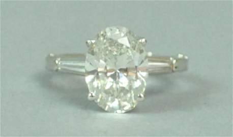DIAMOND ENGAGEMENT RING, 3.50-3.75CT