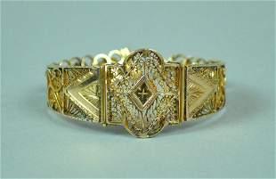 18K GOLD FILIGREE BRACELET